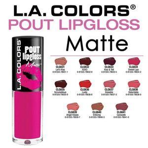 LA Colors Matte Pout 11pc lipcolor SET
